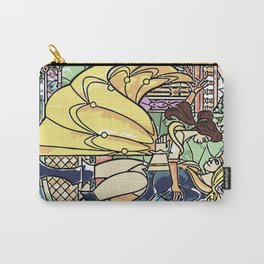Stain glass Window Belle and the Prince Carry-All Pouch