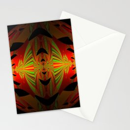 Orange Black Green Design Stationery Cards