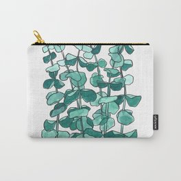 Eucalyptus Branch Watercolor Painting Carry-All Pouch