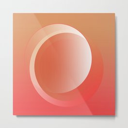 Abstract illusion Sphere 1725 Metal Print