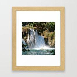 Waterfalls KRK, Croatia 2 Framed Art Print
