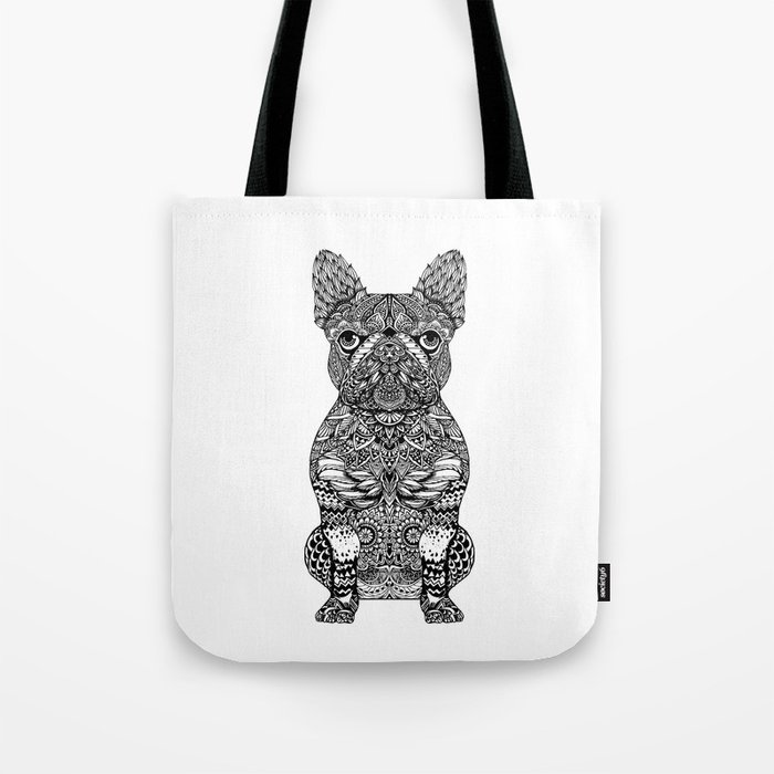 Mandala Frenchie Tote Bag