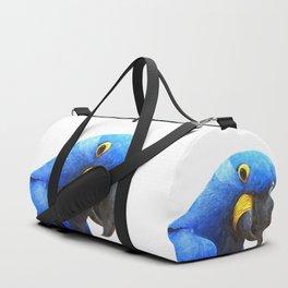 Blue Parrot Portrait Duffle Bag