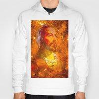 jesus Hoodies featuring Jesus by Saundra Myles