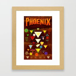 Fires of the Phoenix Framed Art Print