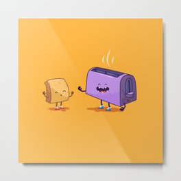 Best friends (Bread and toaster. Character set.) Metal Print