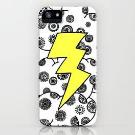Yellow Lightning Cloud iPhone Case