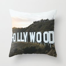 Hollywood Sign (Los Angeles, CA)  Throw Pillow