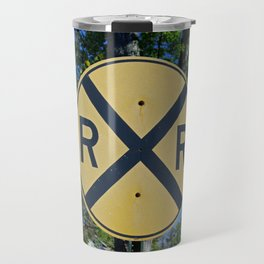 Railroad Crossing Travel Mug