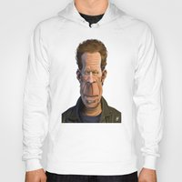 tom waits Hoodies featuring Celebrity Sunday ~ Tom Waits by rob art | illustration