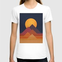 sand T-shirts featuring Full moon and pyramid by Picomodi