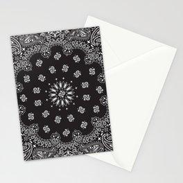 Paisley - Bandana - Black - Southwestern Art Stationery Cards