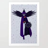 raven Art Prints featuring RAVEN by badOdds