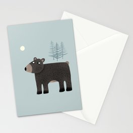 The Bear, the Trees and the Moon Stationery Cards