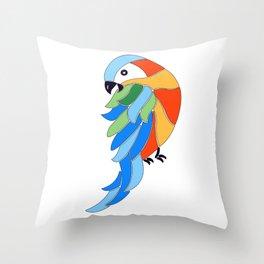 Whimsy hybrid macaw Throw Pillow
