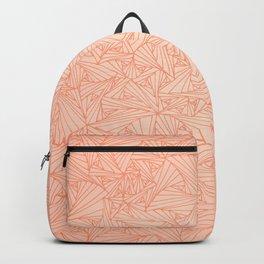 Pink Peach Retro Geometric Waltz Backpack