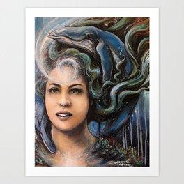 Mermaid Reverie Art Print