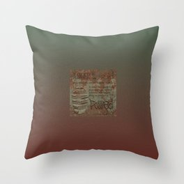 Twain on Anger - bordered Throw Pillow