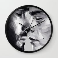sterek Wall Clocks featuring sterek by Finduilas