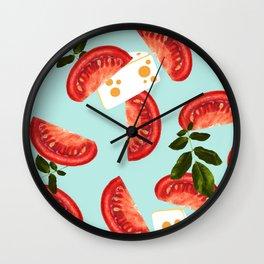 Caprese #society6 #decor #pattern Wall Clock