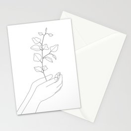 Minimal Hand Holding the Branch II Stationery Cards