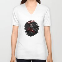 sith V-neck T-shirts featuring Sith Lord by Hunor L. Kovacs
