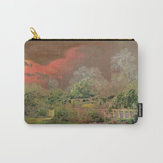 English Garden Sunset Carry-All Pouch