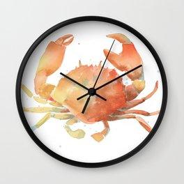 Ocean Crab, Watercolor Painting Wall Clock