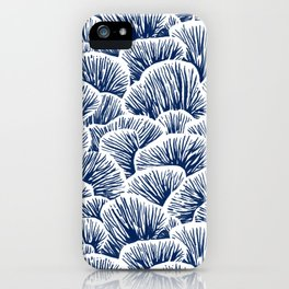 Mushroom Pattern - Dark Blue iPhone Case
