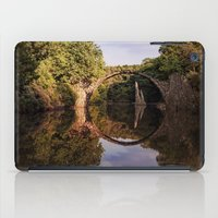geology iPad Cases featuring Mystical stone arch by UtArt