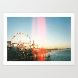 Peach of Santa Monica Art Print