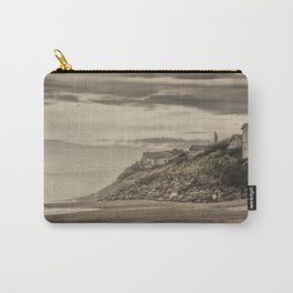Homes Atop Cliffs At Gleneden Toned Carry-All Pouch