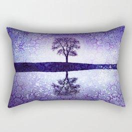 Ultra Violet Boho Moonrise Rectangular Pillow