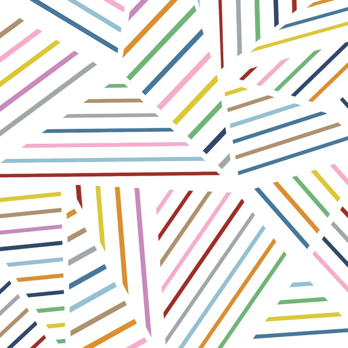 Abstraction Linear Rainbow Leggings