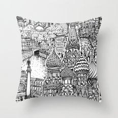 To Russia, With Love Throw Pillow