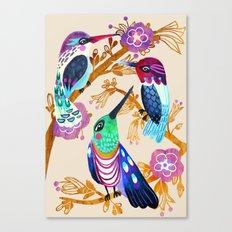 Hummingbird Floral Song Canvas Print