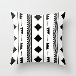Southwestern White Throw Pillow