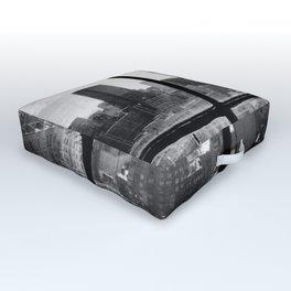 i love NY black and white Outdoor Floor Cushion