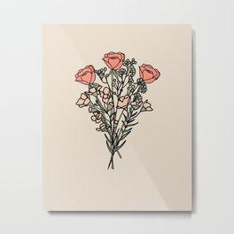 bunch of flowers.2 Metal Print