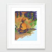 western Framed Art Prints featuring Western by ColorMeRed