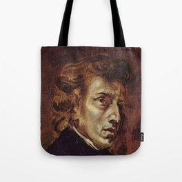 Eugene Delacroix- Portrait of Chopin Tote Bag