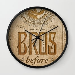 Super Mario Bros Before Hoes. Vintage Paper Banner. Wall Clock