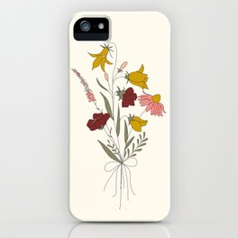 Wildflowers Bouquet iPhone Case
