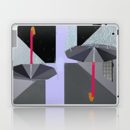 Umbrellas in the Rain Laptop & iPad Skin