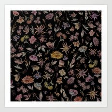 Botanical Study- Dark Colorway Art Print