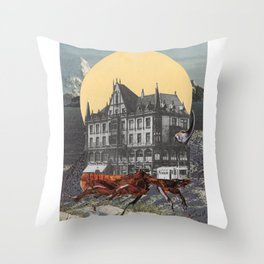 The mobile city Throw Pillow