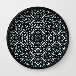 Oriental Geometric Print Pattern Wall Clock