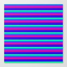StRipES Pink Teal Blue Canvas Print