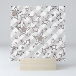 Holiday decor, shiny stars ,Christmas 2 Mini Art Print