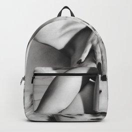 Erotic Nude Platinum Blonde Girl Backpack